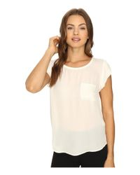 Joie - White Rancher Silk Top - Lyst