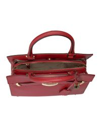 CALVIN KLEIN 205W39NYC - Red Brooke Tumbled Pebble Tote - Lyst