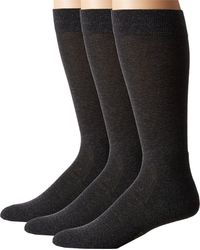 Hue - Black Solid Sock With Half Cushion 3-pack for Men - Lyst