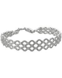 Swarovski - Multicolor Lace Bracelet (rhodium Plating/white) Bracelet - Lyst
