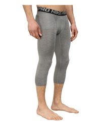 Nike - Black Pro Cool 3/4 Compression Tight for Men - Lyst