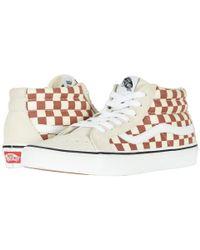 Vans - Multicolor Sk8-mid Reissue ((two-tone Checker) Boa/black) Skate Shoes - Lyst