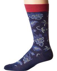 Etro   Blue Paisley Socks for Men   Lyst