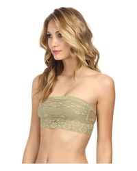 Free People - Green Scalloped Lace Bandeau - Lyst