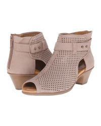 Earth - Purple Intrepid Perforated-Leather Ankle Boots - Lyst