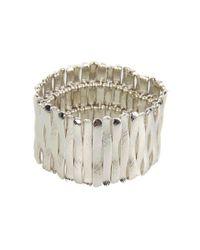 Guess - Metallic Stretch Bars Bracelet - Lyst