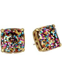 Kate Spade | Multicolor Small Square Studs | Lyst