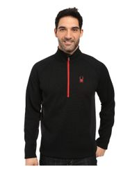 Spyder | Black Outbound Half Zip Mid Weight Core Sweater for Men | Lyst
