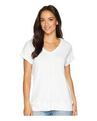 Allen Allen - White Cap Sleeve Vee (lapis) Women's Clothing - Lyst