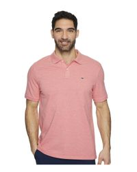 Vineyard Vines - Pink Stretch Pique Heather Polo for Men - Lyst