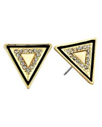 House of Harlow 1960 | Metallic Teepee Triangle Studs | Lyst