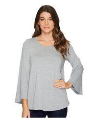 Karen Kane Gray Bell Sleeve Swing Sweter