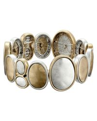 The Sak | Metallic Two-tone Oval Stretch Bracelet | Lyst