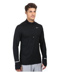 Nike | Black Dry Element Long Sleeve Running Top for Men | Lyst
