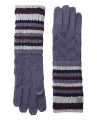 Smartwool | Natural Striped Chevron Glove | Lyst