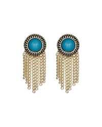 Sam Edelman | Blue Stone Fringe Stud Earrings | Lyst