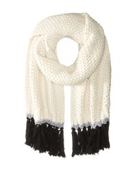 kate spade new york - Natural Chunky Stitch Muffler - Lyst