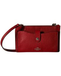 COACH | Red Polished Pebble Pop Up Messenger | Lyst