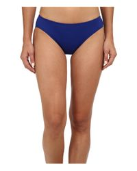 Lauren by Ralph Lauren | Blue Laguna Solids Hipster W/ Logo Plate Bottoms | Lyst