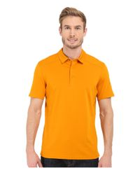 Arc'teryx - Yellow Chilco Short Sleeve Polo for Men - Lyst