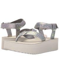 Teva - Gray Flatform Sandal Iridescent - Lyst