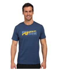 PUMA - Metallic Active Dry Formstripe Tee for Men - Lyst