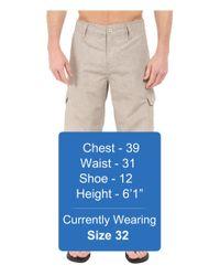 Oakley - Gray Resonance Cargo Hybrid Shorts for Men - Lyst