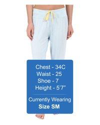 Splendid - Blue Jogger Cropped Pants - Lyst