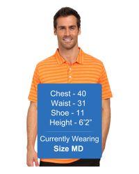 PUMA - Orange Ess Mixed Stripe Polo for Men - Lyst