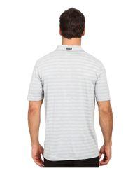PUMA - Gray Ess Mixed Stripe Polo for Men - Lyst