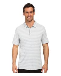 PUMA - Gray Ess Mixed Stripe Polo for Men - Lyst