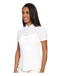 Adidas Originals - White Cottonhand Stripe Polo - Lyst