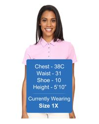 Adidas Originals - Pink Essentials Heather Short Sleeve Polo - Lyst