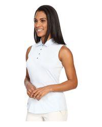 Adidas Originals - Blue Essentials Heather Sleeveless Polo - Lyst