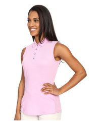 Adidas Originals - Pink Essentials Heather Sleeveless Polo - Lyst