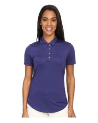 Adidas Originals - Purple Essentials 3-stripe Short Sleeve Polo - Lyst