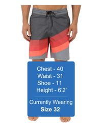 """Billabong - Red Slice Lo Tides 19"""" Boardshorts for Men - Lyst"""