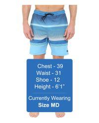 "Billabong - Blue Spinner Lay Back Elastic 19"" Boardshorts for Men - Lyst"