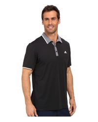 Adidas Originals - Black Climacool® Branded Performance Polo for Men - Lyst