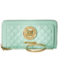 Love Moschino - Blue Quilted Wrist Wallet - Lyst