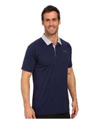PUMA - Blue Short Sleeve Dynamic Vent Polo for Men - Lyst