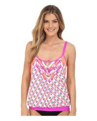 Next By Athena - Yellow Go With The Flow Double Upsoft Cup Tankini - Lyst