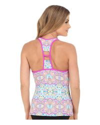 Next By Athena - Pink Wellness Retreat Step Up Racerback Remsoft Cup Tankini - Lyst