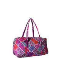 Vera Bradley Luggage | Purple Large Duffel | Lyst