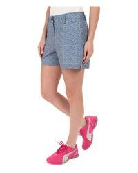 PUMA - Blue Scratch Shorts - Lyst