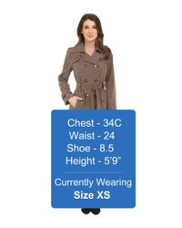 Calvin Klein - Natural Double Breasted Belted Trench W/ Gunflaps - Lyst