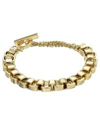 French Connection - Metallic Medium Box Chain Bracelet - Lyst
