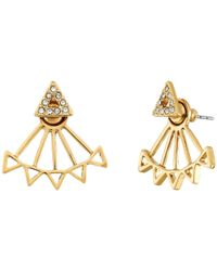 Rebecca Minkoff | Metallic Two Part Triangle Earrings | Lyst