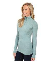 The North Face   Blue Long Sleeve Go Seamless Wool 1/4 Zip   Lyst