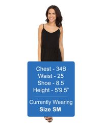 Michael Stars - Black Cami Wrap Dress W/ Tie Waist - Lyst